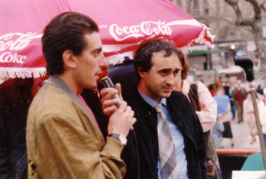 foto vivi 96  Antibo intervistato da Mario Pintagro speaker storico del vivicitta palermitano