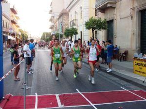 Gruppo di testa gara Acquedolci
