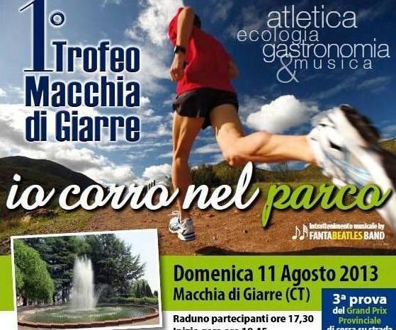"""Domenica il """"Trofeo Podistico Macchia di Giarre"""""""