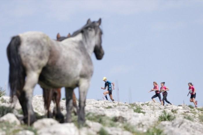 Parco dei Monti Sicani colorato dalla carovana del trail