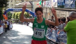 Giuseppe Trimarchi all'arrivo