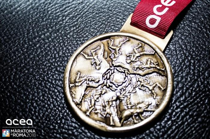 La medaglia della Maratona di Roma 2018
