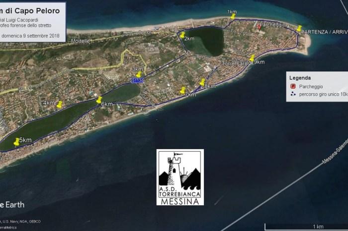 """Allenamento di gruppo per la """"10km di Capo Peloro"""""""
