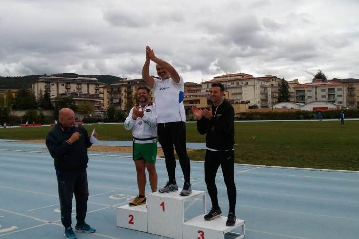 Francesco Longo campione italiano pentathlon lanci Master