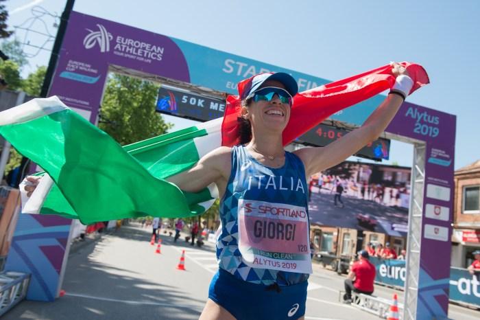 Giorgi, esordio show: record europeo 50 km!