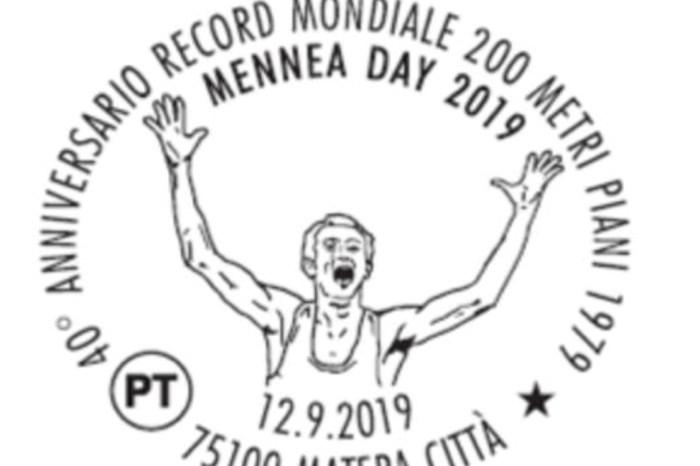 Mennea Day, timbro e cartolina a Matera