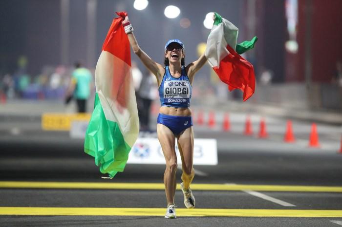 Bronzo mondiale per Eleonora Giorgi nella 50 km di marcia