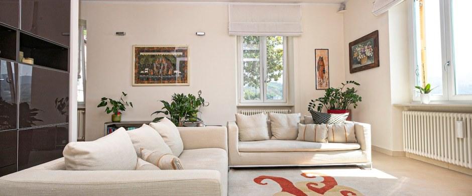 A Genova Pegli, suggestioni da Costa Azzurra per l'appartamento nella Villa Liberty in collina