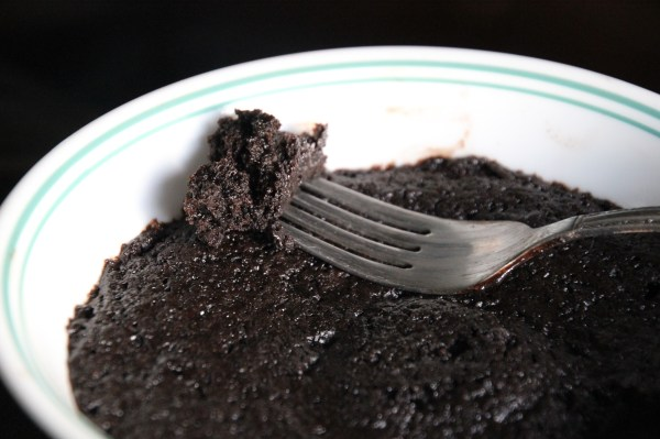Microwave Fudgy Brownie for One
