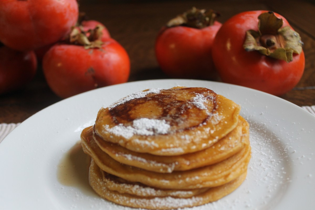 Spiced Persimmon Pancakes
