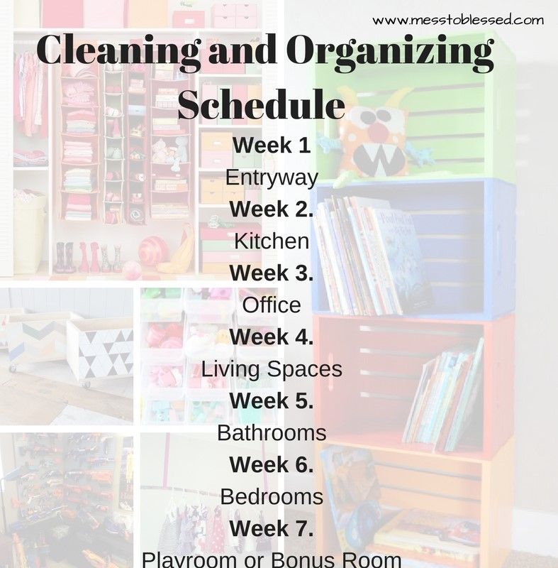 Cleaning and Organizing Schedule