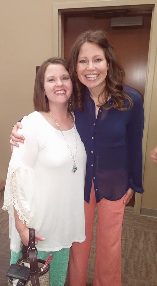 I was able to hear Kelly Minter speak in person-and yes, I was a bit giddy when I was able to take this picture with her.