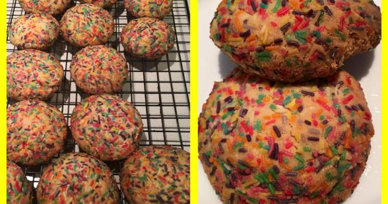 vanilla cookies with sprinkles – converted for a Thermomix from Serious Eats