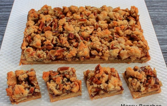paleo apple pie crumb bars from Golden Barrel converted for Thermomix