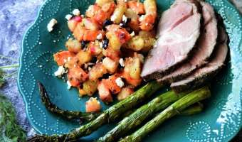 Moscato Yogurt Marinated Leg of Lamb