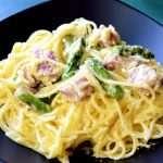 Ham and Asparagus Carbanara