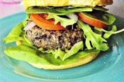 Mushroom Black Bean Burger