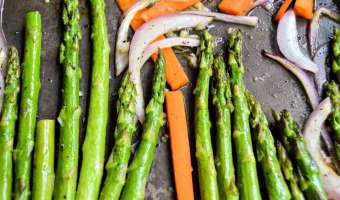 Honey Garlic Carrots and Asparagus