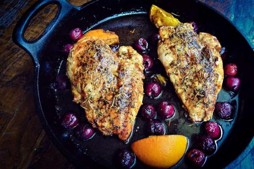 Cherry Balsamic Chicken with an Orange Twist