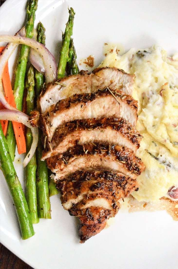 Cherry Balsamic Chicken complete meal