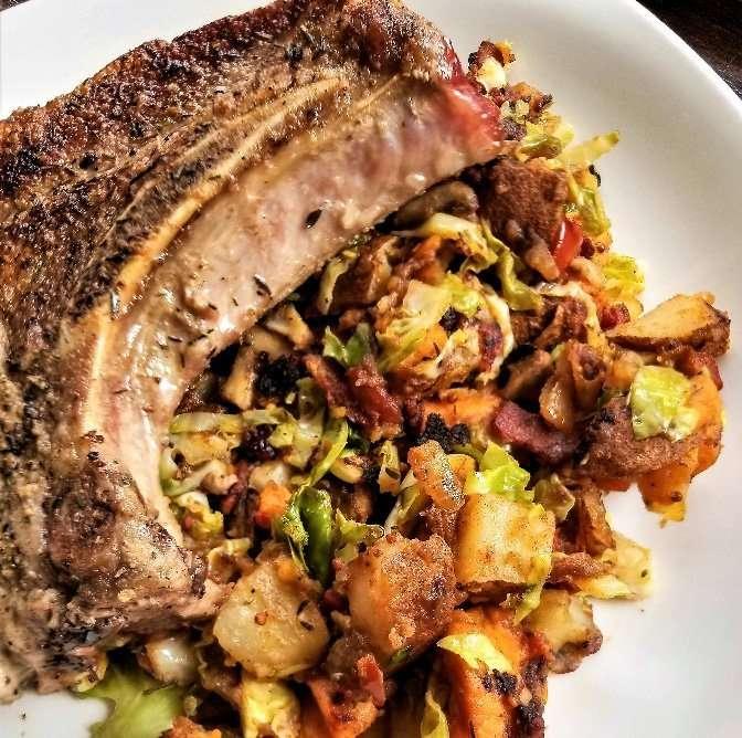 Simple Herb Pork Chop. Meal