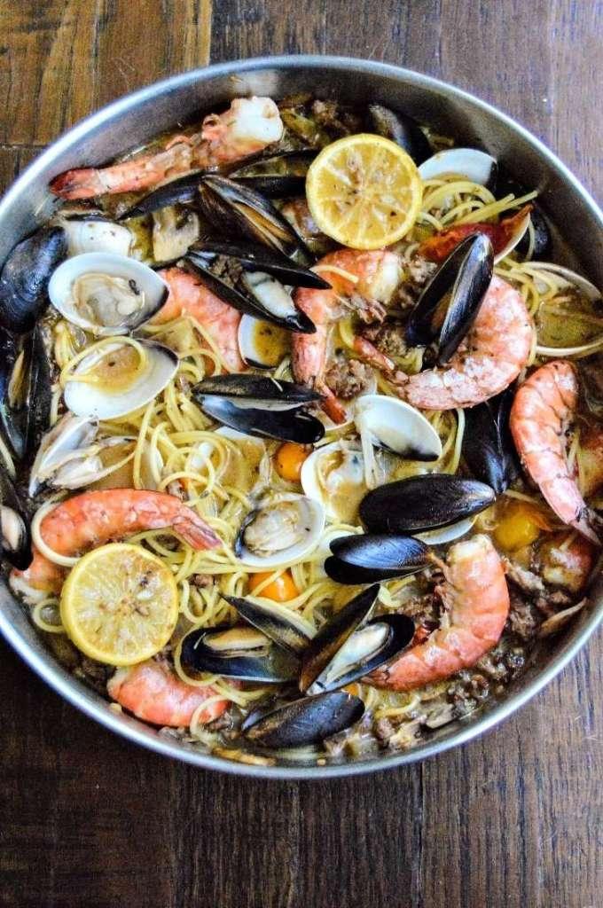 Sausage and Shellfish Pasta full dish