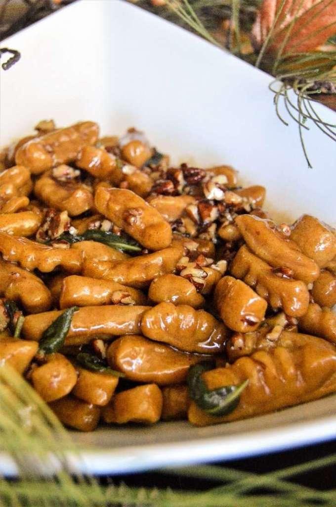 Sweet Potato Gnocchi in a Pecan Maple Sage Sauce