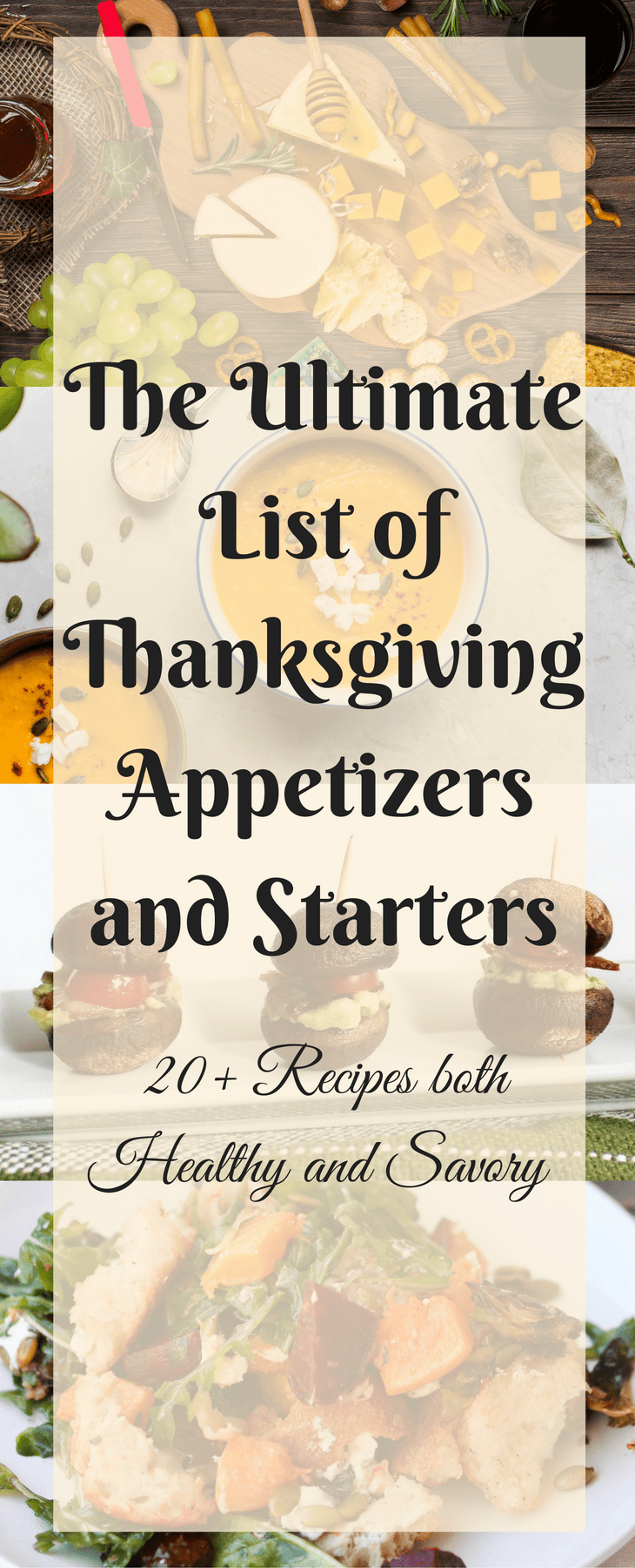 Thanksgiving Appetizers and Starters Pin