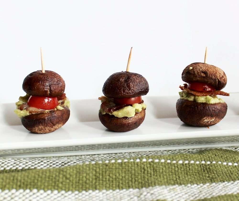 Bacon Guacamole and Mushroom Sliders by Wellness by Kristen