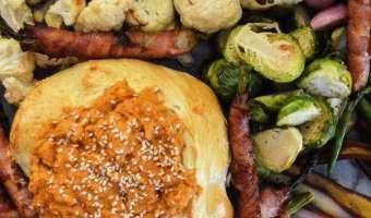 chipotle pumpkin humus platter
