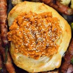 chipotle pumpkin humus up close