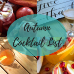Autumn Cocktail List