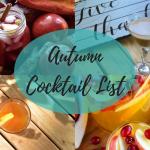Autumn Cocktail List