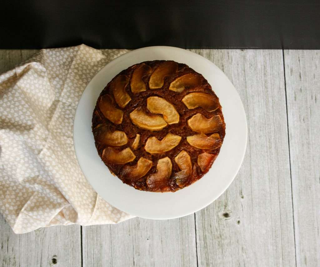 Caramel Apple Upside Down Cake by Rachael's Foodie Life