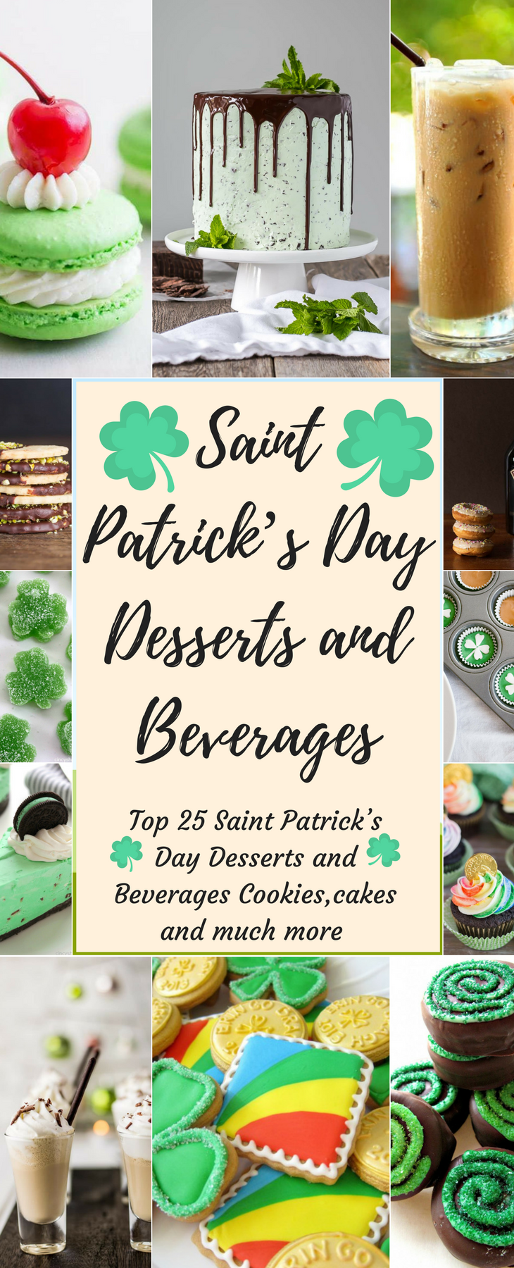 Saint Patrick's Day Dessert and Beverage Pin