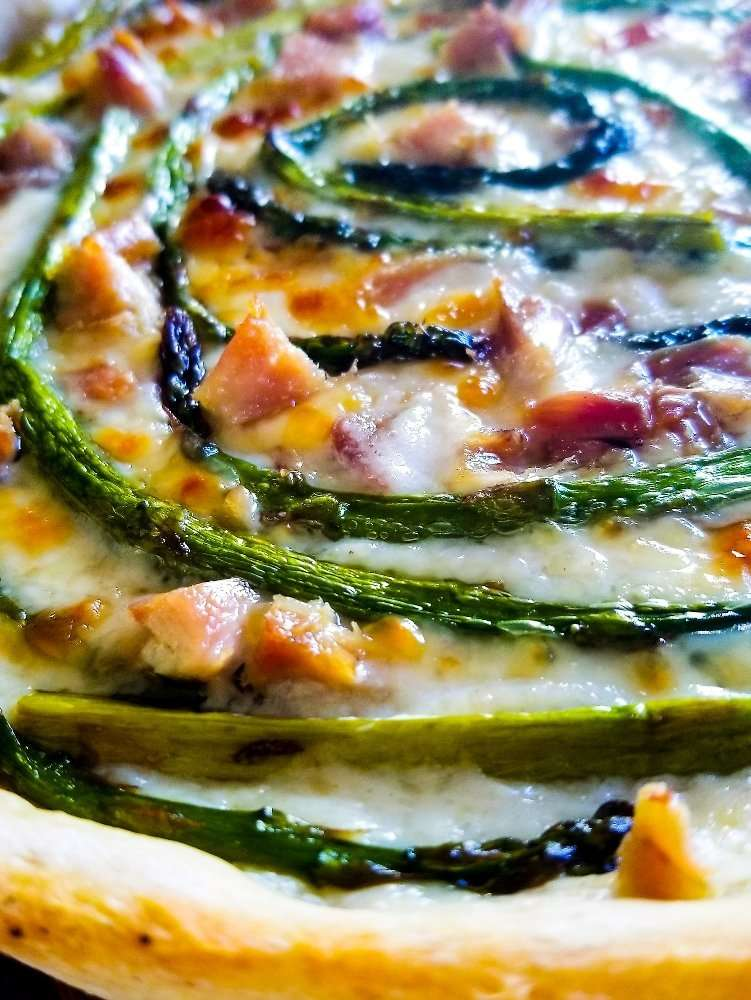 Asparagus Tart up close