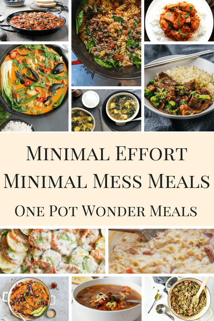 Pinnable image for One Pot Wonder Meals