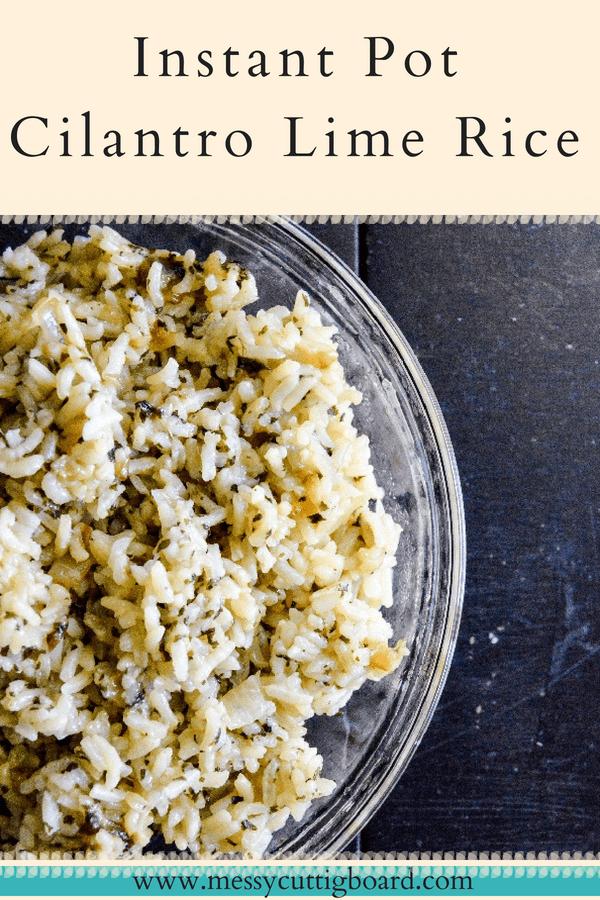 Instant Pot Cilantro Lime Rice Pin