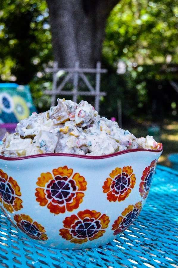 Sweet Pepper and Cornichon Potato Salad Bowl
