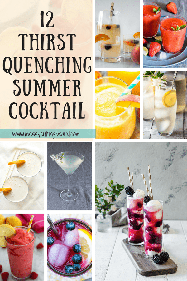 12 Thirst Quenching Summer Cocktail Pin