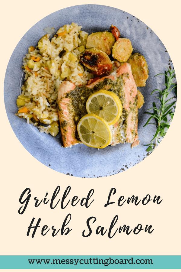 Grilled Lemon Herb Salmon Title