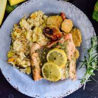 Grilled Lemon Herb Salmon