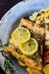 Grilled Lemon Herb Salmon Salmon