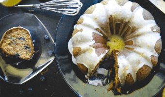 Banana Blueberry Bundt Cake Feature