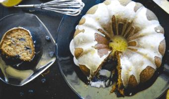 Banana Blueberry Bundt Cake Feature