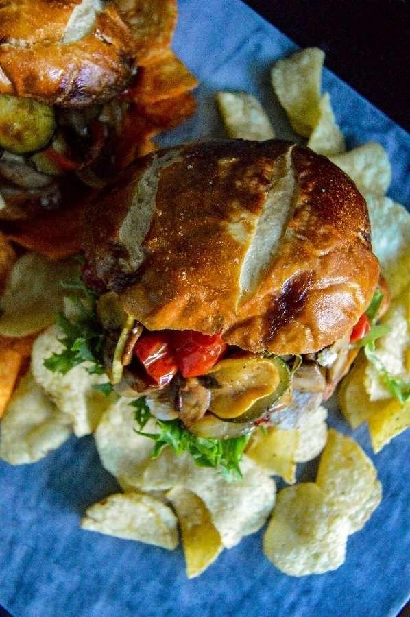 Italian Chicken Sandwich Top