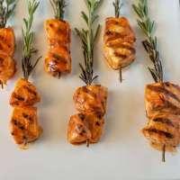 Buffalo rosemary chicken skewers