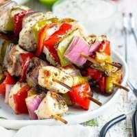 Grilled Greek Chicken Shish Kabobs
