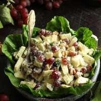 Healthy Vegan Waldorf Salad Recipe • Happy Kitchen.Rocks