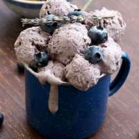 Sugar Free Blueberry Cheesecake Ice Cream with Lavender